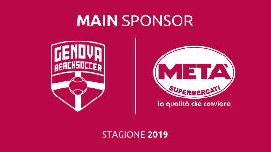 Genova Beach Soccer insieme ai Supermercati META' !