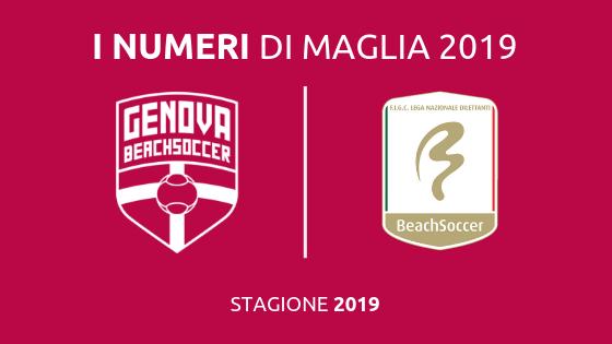 Genova Beach Soccer, ecco la numerazione ufficiale per la stagione 2019!