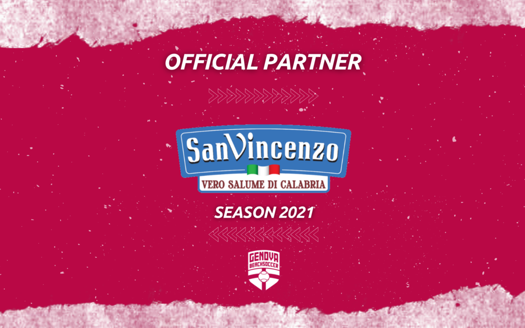 Salumificio San Vincenzo sarà Official Partner della Genova Beach Soccer per la stagione 2021.