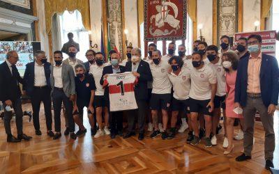 La Genova Beach Soccer ospite dal Sindaco Marco Bucci per la presentazione della stagione 2021!